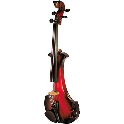 bridge aquila series 4 string electric violin black red musician 39 s friend. Black Bedroom Furniture Sets. Home Design Ideas