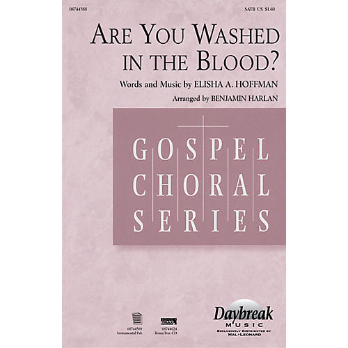 Daybreak Music Are You Washed in the Blood? Combo Parts Arranged by Benjamin Harlan
