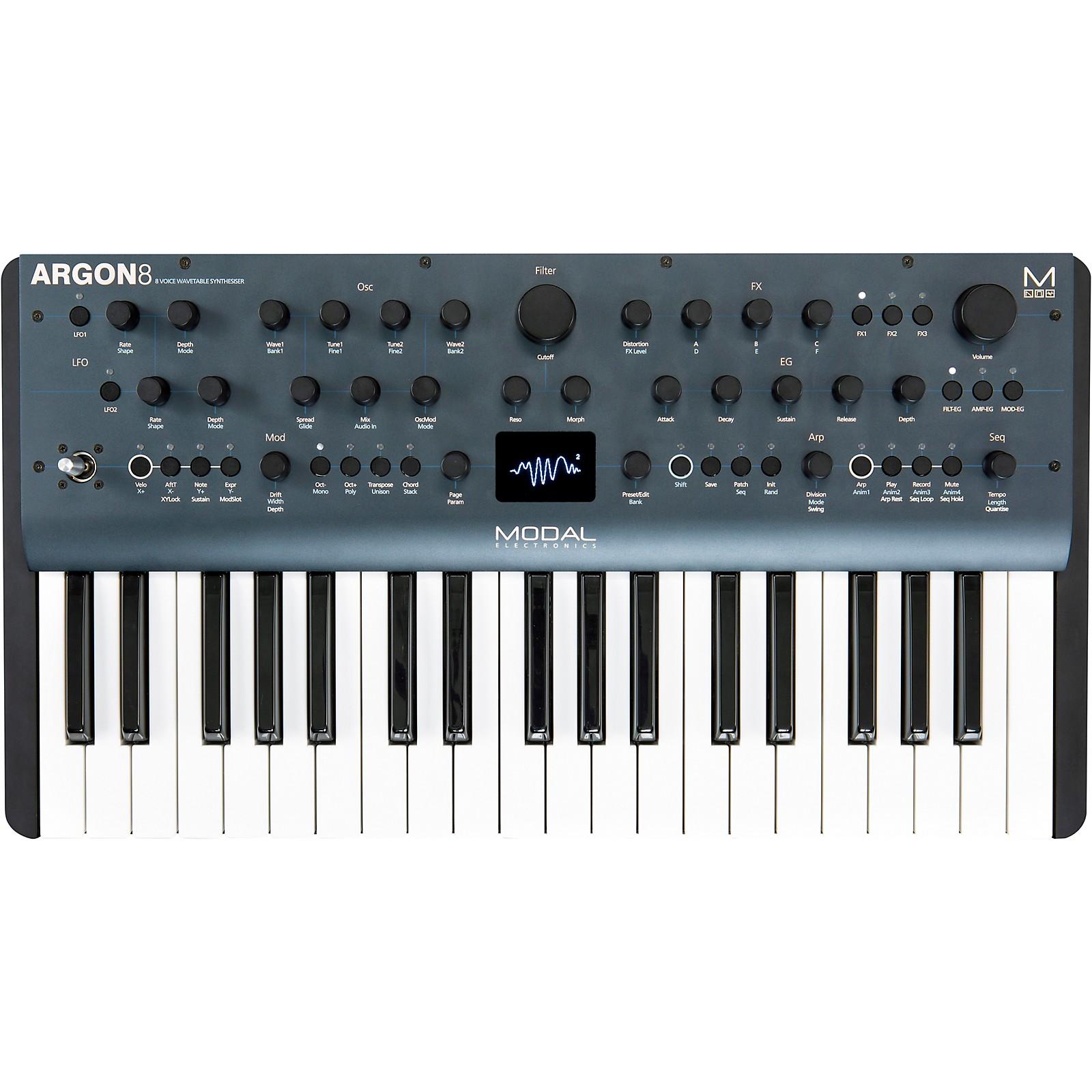 Modal Electronics Limited Argon8 37-Key 8-Voice Polyphonic Wavetable Synthesizer