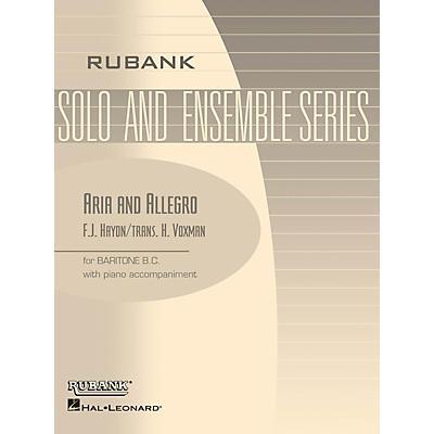 Rubank Publications Aria and Allegro (Baritone B.C. Solo with Piano - Grade 3) Rubank Solo/Ensemble Sheet Series