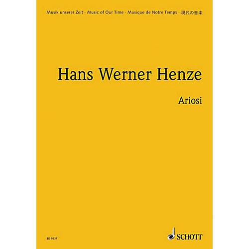 Schott Ariosi (Study Score) Schott Series Composed by Hans-Werner Henze