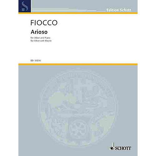 Schott Arioso (Oboe with Piano Accompaniment) Schott Series