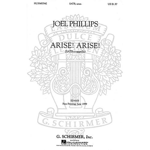 G. Schirmer Arise! Arise! (SATB a cappella) SATB a cappella composed by English Folksong