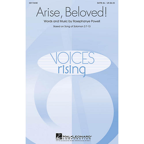 Hal Leonard Arise, Beloved! SATB Divisi composed by Rosephanye Powell