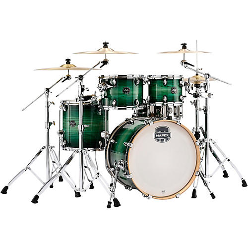 Mapex Armory Series Exotic Fusion 5-Piece Shell Pack with 20 in. Bass Drum Emerald Burst