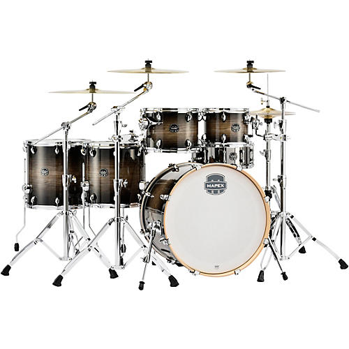 Mapex Armory Series Exotic Studioease 6-Piece Shell Pack with Deep Toms and 22 in. Bass Drum Black Dawn