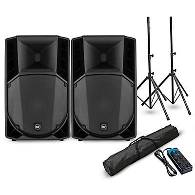 "RCF Art 715-A MK4 15"" Powered Speaker Pair and Power Strip"