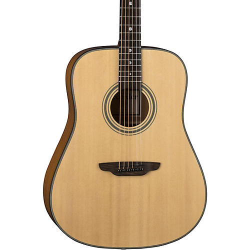 Luna Guitars Art Recorder Dreadnought Acoustic Guitar Natural
