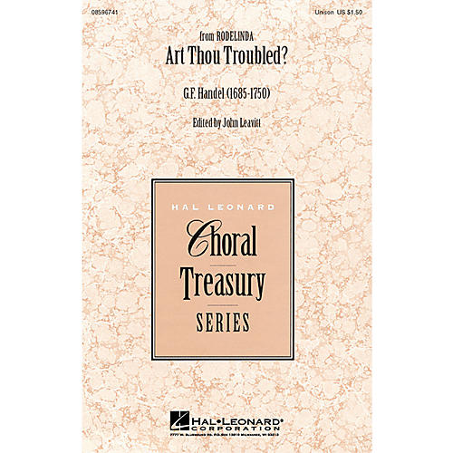 Hal Leonard Art Thou Troubled? UNIS arranged by John Leavitt
