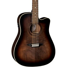 Luna Guitars Art Vintage Dreadnought Cutaway Acoustic-Electric 12-String Guitar
