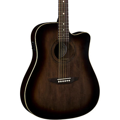 Luna Guitars Art Vintage Dreadnought Cutaway Acoustic-Electric Guitar