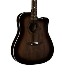 Open BoxLuna Guitars Art Vintage Dreadnought Cutaway Acoustic-Electric Guitar