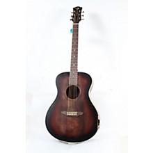 Open BoxLuna Guitars Art Vintage Folk Acoustic Guitar
