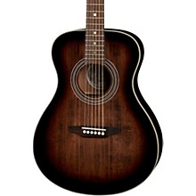 Luna Guitars Art Vintage Folk Solid Top Left-Handed Acoustic Guitar