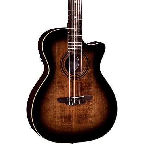 Luna Guitars Art Vintage Nylon Acoustic-Electric Guitar Brown Burst