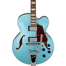 Artcore AFS75 Hollowbody Electric Guitar with Bigsby Steel Blue Flat
