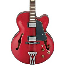Artcore Vintage Series AFV10A Hollowbody Electric Guitar Transparent Cherry Red Low Gloss