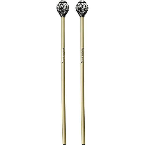 Balter Mallets Arthur Lipner Artist Series Rattan Handle Vibraphone Mallets Medium Hard Black and White Cord