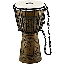 Artifact Series Hand Carved Djembe 8 in. Brown