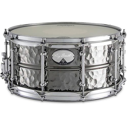 Dixon Artisan Bissonette Signature Black Nickel Plated Hammered Brass Snare Drum 14 x 6.5 in.