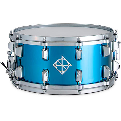 Dixon Artisan Blue Titainium Steel Snare Drum 14 x 6.5 in. Blue