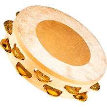 Artisan Edition Calf-Skin Tambourine Two Rows Solid Brass Jingles