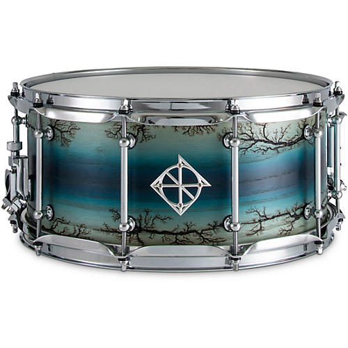 Dixon Artisan Enchanted Ash Snare Drum 14 x 6.5 in. Electric Blue Burst