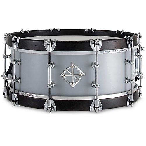 Dixon Artisan Equator Wenge Wood Hoop Snare Drum 14 x 5.5 in. Satin Cool Grey