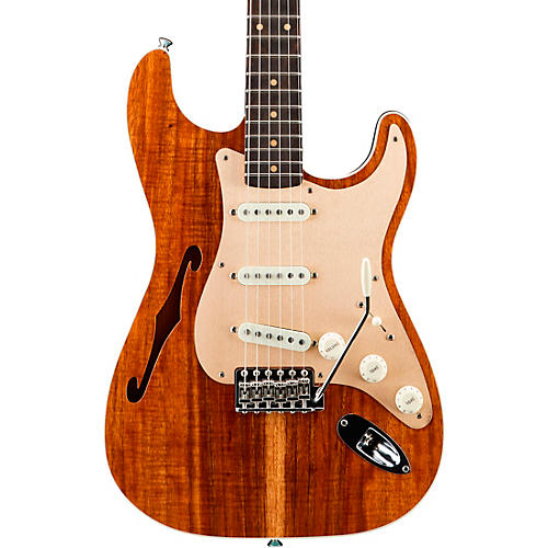 Fender Custom Shop Artisan Koa Stratocaster Electric Guitar Condition 2 - Blemished Aged Natural Top with Aged Teal Green Back and Sides 194744511189