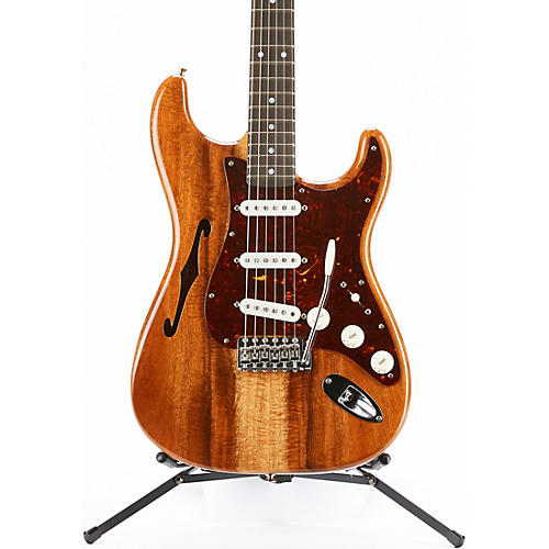 Fender Custom Shop Artisan Stratocaster Thinline Roasted Ash Body with Flame Koa Top Electric Guitar Aged Natural