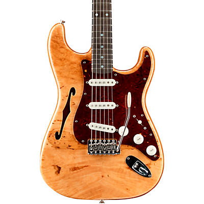 Fender Custom Shop Artisan Stratocaster Thinline Roasted Ash Body with Flame Maple Burl Top Electric Guitar