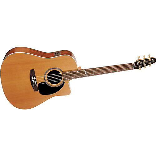 Seagull Artist Series Mosaic CW Cutaway Dreadnought i-Beam Acoustic-Electric Guitar with Deluxe Case