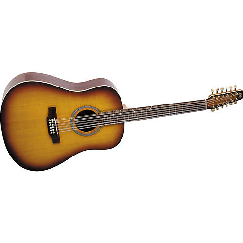 seagull artist series studio dreadnought 12 string acoustic guitar with deluxe case musician 39 s. Black Bedroom Furniture Sets. Home Design Ideas
