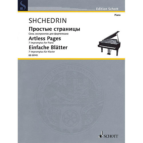 Schott Artless Pages (Seven Impromptus Piano) Schott Series
