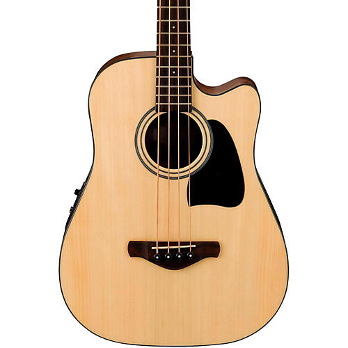 Ibanez Artwood AWB50NT Spruce/Mahogany Cutaway Dreadnought Acoustic-Electric Bass Guitar
