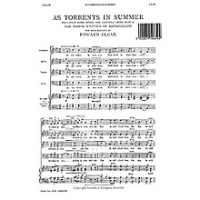 Novello As Torrents in Summer SATB Composed by Edward Elgar
