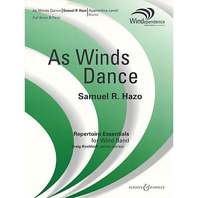 Boosey and Hawkes As Winds Dance (Score Only) Concert Band Composed by Samuel R. Hazo