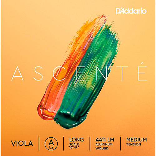 D'Addario Ascente Viola String Set, Medium Tension 16+ in., Medium