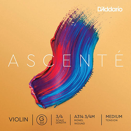 D'Addario Ascente Violin G String 4/4 Size, Medium