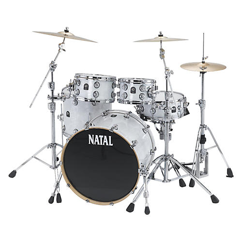 Natal Drums Ash US Fusion X 5-Piece Shell Pack White Swirl