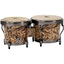 Open Box LP Aspire Bongo Set Havana Cafe with Brushed Nickel Hardware