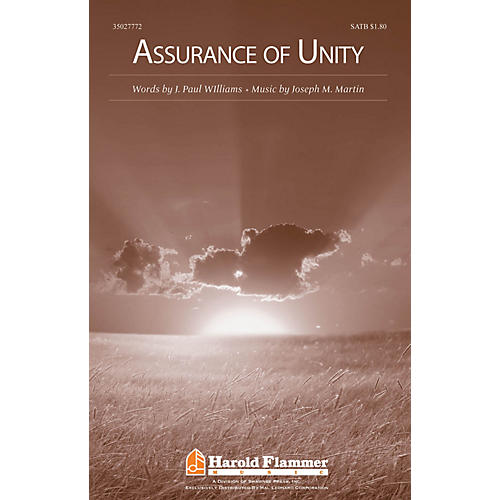 Shawnee Press Assurance of Unity SATB composed by Joseph M. Martin