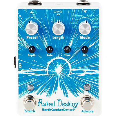 Earthquaker Devices Astral Destiny Modulated Octave Reverb Effects Pedal