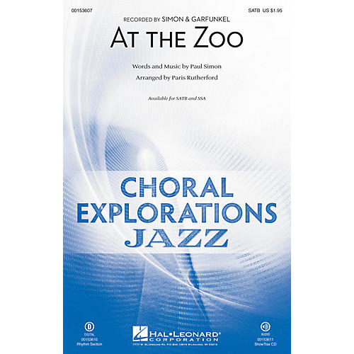 Hal Leonard At the Zoo SATB arranged by Paris Rutherford