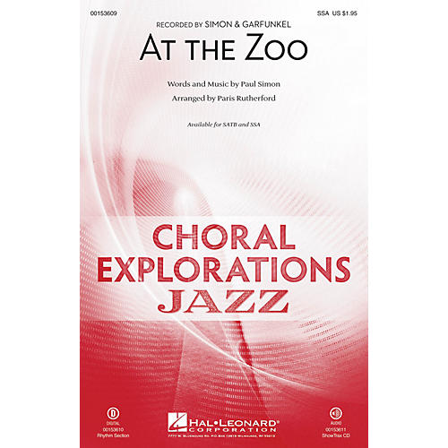 Hal Leonard At the Zoo SSA arranged by Paris Rutherford