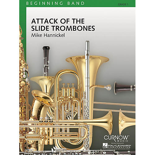 Curnow Music Attack of the Slide Trombones (Grade 1 - Score Only) Concert Band Level 1 Composed by Mike Hannickel