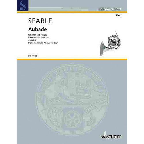 Schott Aubade Op. 28 (Horn and Strings, Piano Reduction) Schott Series