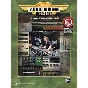 alfred audio mixing boot camp book dvd musician 39 s friend. Black Bedroom Furniture Sets. Home Design Ideas