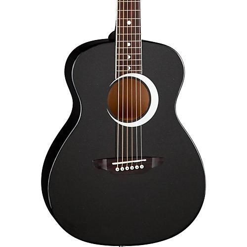 Luna Guitars Aurora Borealis 3/4 Size Acoustic Guitar Black Sparkle