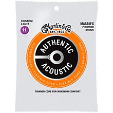 Martin Authentic Acoustic Flexible Core Guitar Strings (Phosphor Bronze, Custom Light)
